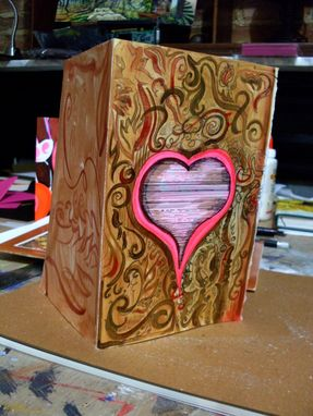 Custom Made Hand Painted Artist Valentine's Day Greeting Card