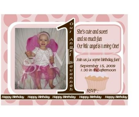 Custom Made Personalized Photo Childrens Birthday Invitation- Set Of 25, Many Themes Available