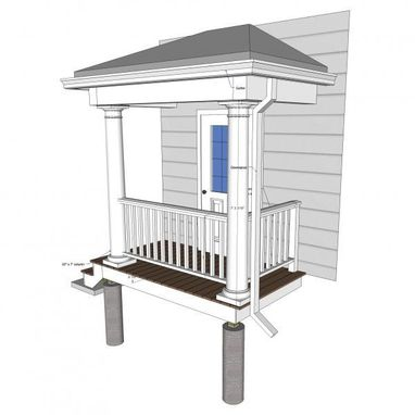 Custom Made Colonial Porch (Deck Repair)