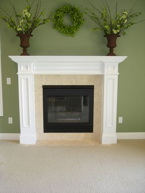 Custom Made White Painted Traditional Mantel