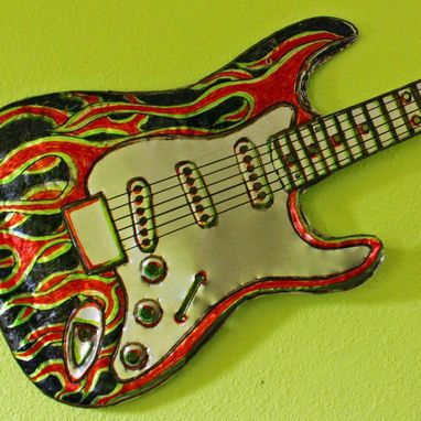Custom Made Solid Aluminum Gibson Sg Electric Guitar Sculpture