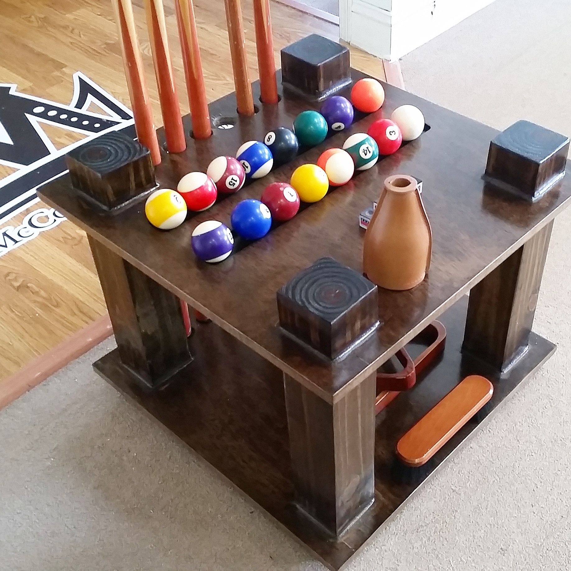 Custom Made Cue Rack Pool Stick Holder