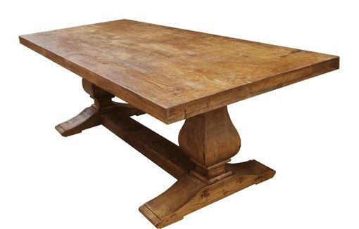 Custom Made Segovia Reclaimed Wood Trestle Dining Table