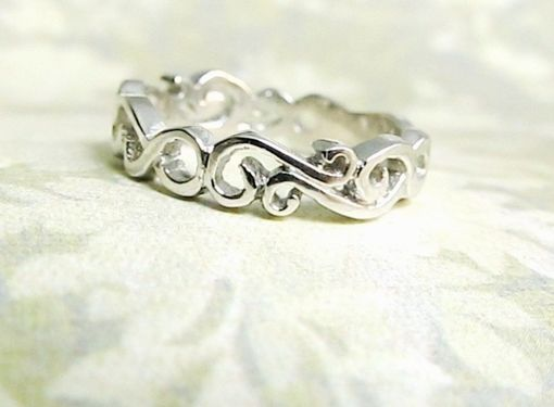 Custom Made Wedding Ring Scroll Design (Wave Ring)