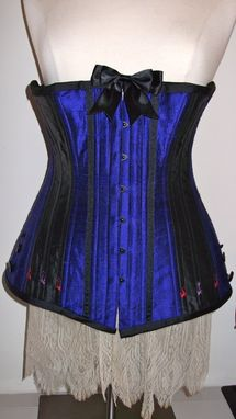Custom Made Silk & Coutil Edwardian Long Line Corset