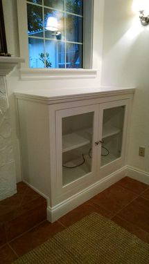 Custom Made Fireplace Cabinetry