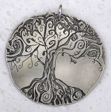 Custom Made Tree Of Life Etched Pendant