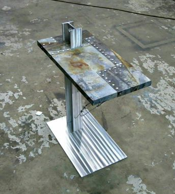 Custom Made Industrial Inspired End Table