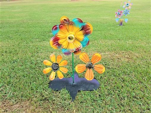 Custom Made Metal Art Garden Decor Flower Sculpture