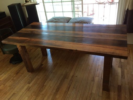 blackened furniture hand crafted industrial reclaimed wood table with blackened steel