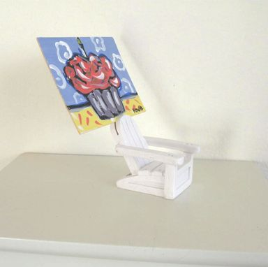 Custom Made Home And Living, Adirondack Chair Place Card Holder, Aceo Holder, Wedding. Name Holder