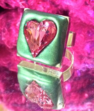 "Custom Made Swarovski Crystal ""Sorry Hearts"" Ring Collection"