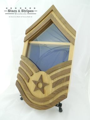 Custom Made Air Force Master Sergeant Shadow Box