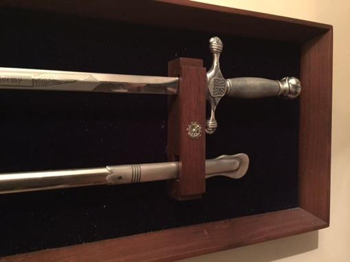 Custom Made Wall Hanging Rifle Or Sword Mount.