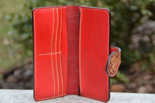 Custom Made Hand Made Carved Leather Wallet