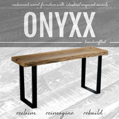 Custom Made Industrial Reclaimed Wood Bench