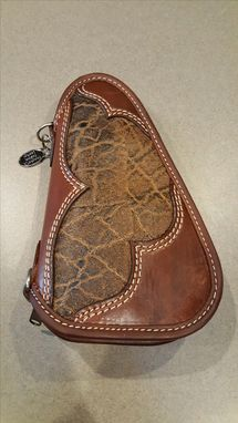 Custom Made Leather Pistol Caddy (Small) (Made To Order)