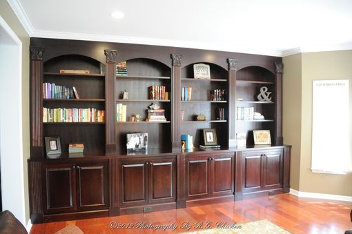 Custom Made Wall Unit With Bookshelves And Storage