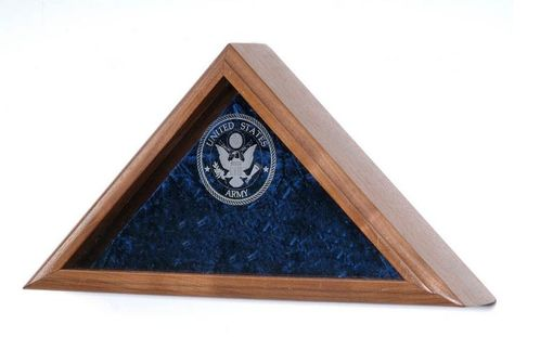 Custom Made Triangle Flag Case, Triangle Flag Display Case