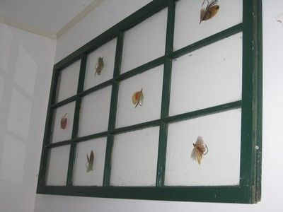 Custom Made Fly Fishing On Old Window Frame