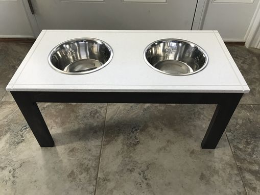 Custom Made Meganite Dog Feeding Station With Glow Inlay!