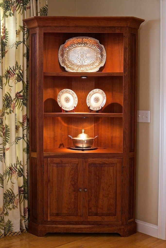 Hand Crafted Cherry Corner Cabinet By Oceanside