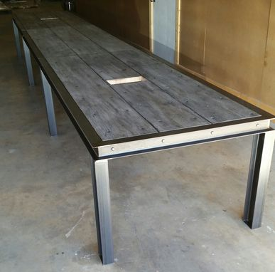 Custom Steel Conference Table By Urban Ironcraft