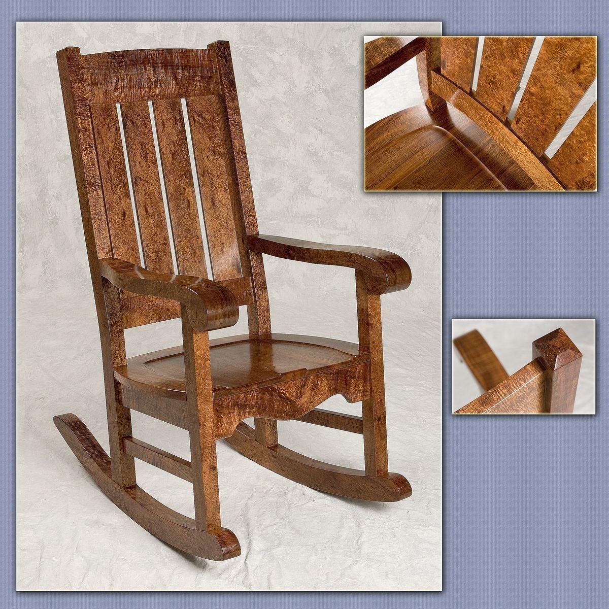 Fine Hand Crafted Hawaiian Curly Koa Mission Style Rocker By Machost Co Dining Chair Design Ideas Machostcouk