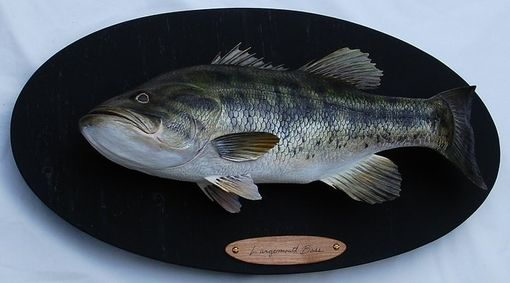 "Custom Made 21"" Hand-Carved Largemouth Bass"
