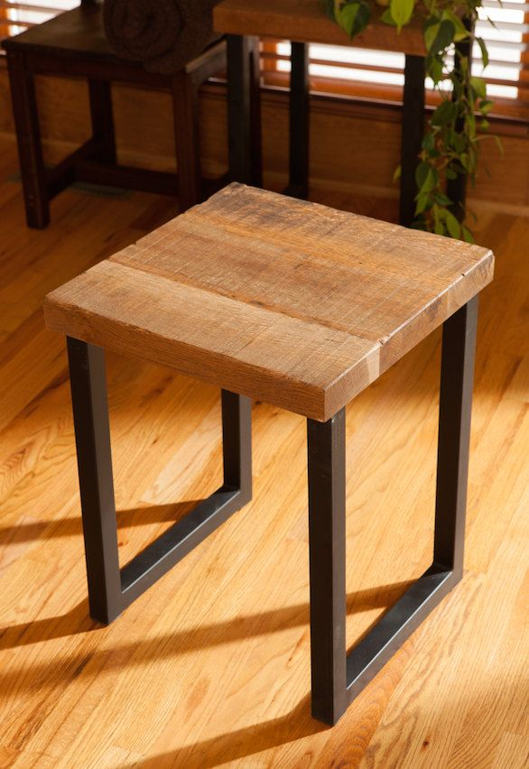 Reclaimed Oak Wood End Table, Entry Way Table, End Table For Living Room, Side  Table In Custom Size - Reclaimed Wood Entry Tables, Hall Tables And Accent Tables