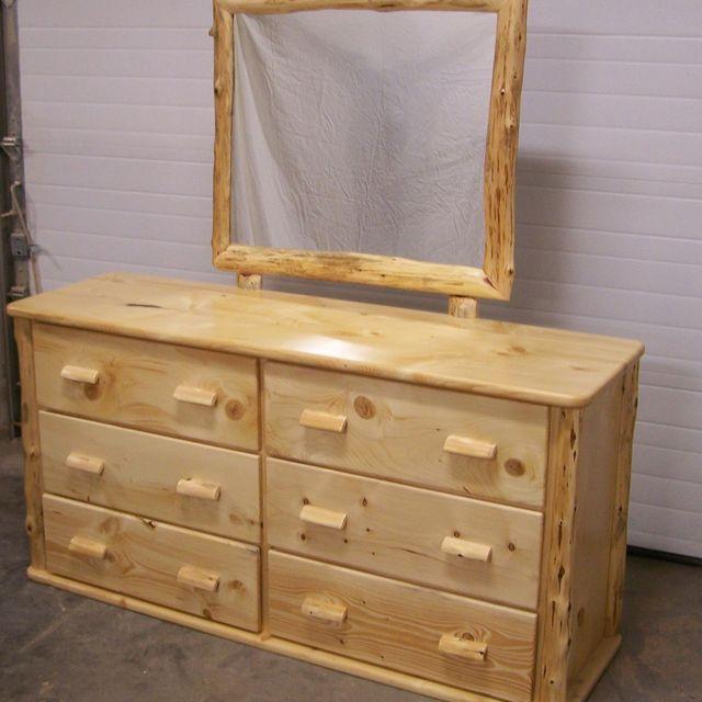 Custom Made Knotty Pine Six Drawer Dresser by Fbt Sawmill & Custom ...
