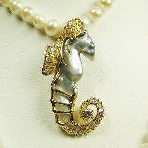 Custom Made Seahorse Pendant With Matching Bracelet