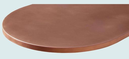 Custom Made Copper Countertop With Integral Sink & Drainboard