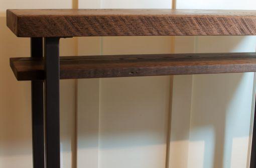 Custom Made Reclaimed Wood Sofa Table Rustic Tall Oak