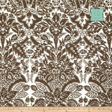 Custom Made 84l X 50w Designer Custom Curtains Draperies Bella Modern Floral Damask In Brown