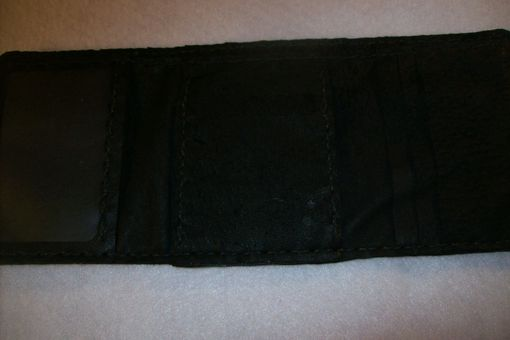 Custom Made Leather Imperial Trifold Wallet With Alligator Design
