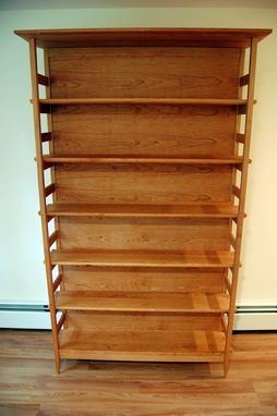 Custom Made Cherry Asian Style Tall Bookshelf