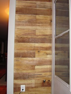 Custom Made Pin Oak Accent Wall