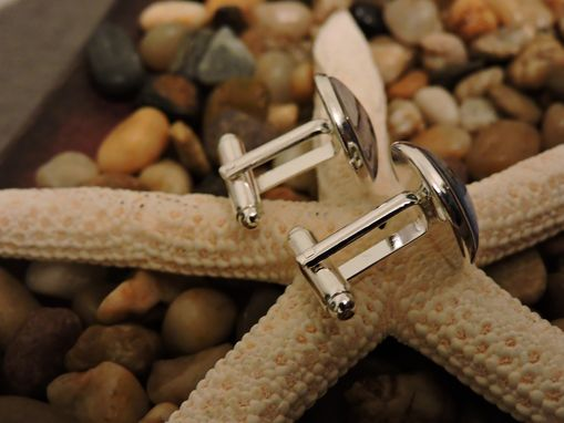 Custom Made Custom Sterling Silver Plated Cuff Links
