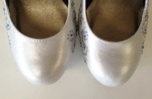 Custom Made A Girl's Best Friend Hand-Painted Wedding Shoes.