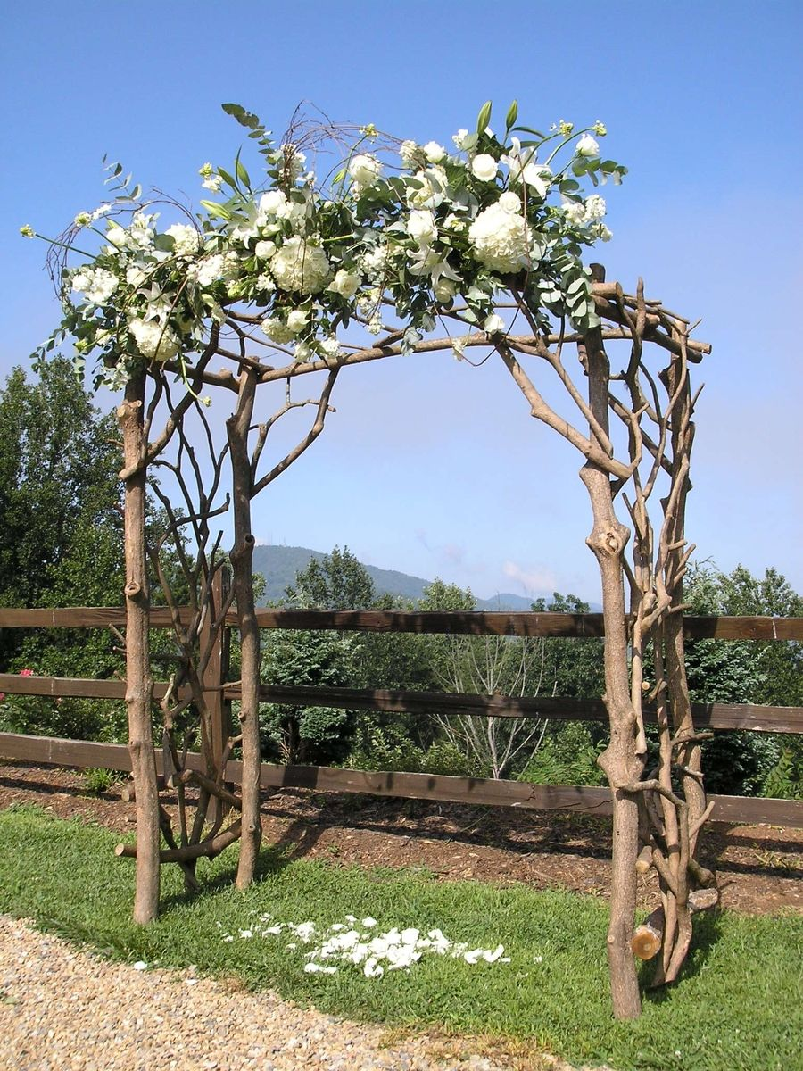 custom rhododendron wedding arbor by rhodo creations. Black Bedroom Furniture Sets. Home Design Ideas