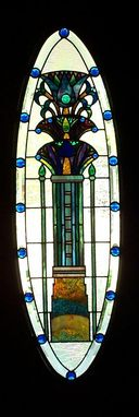 Custom Made Egyptian Stained Glass Window