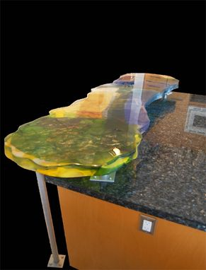Custom Made Cast Glass Counters