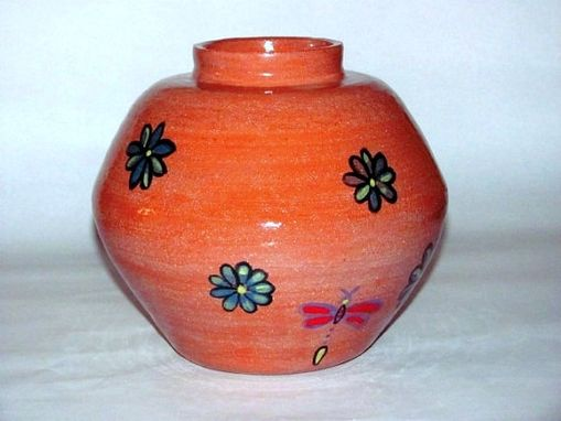 Custom Made Whimsical Earthenware Planter/Vase For Indoor Or Outside Patio Use