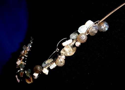Custom Made Gf Snake Chain, Shell Chips, Pearls, Opal, Labrodite Faceted Beads