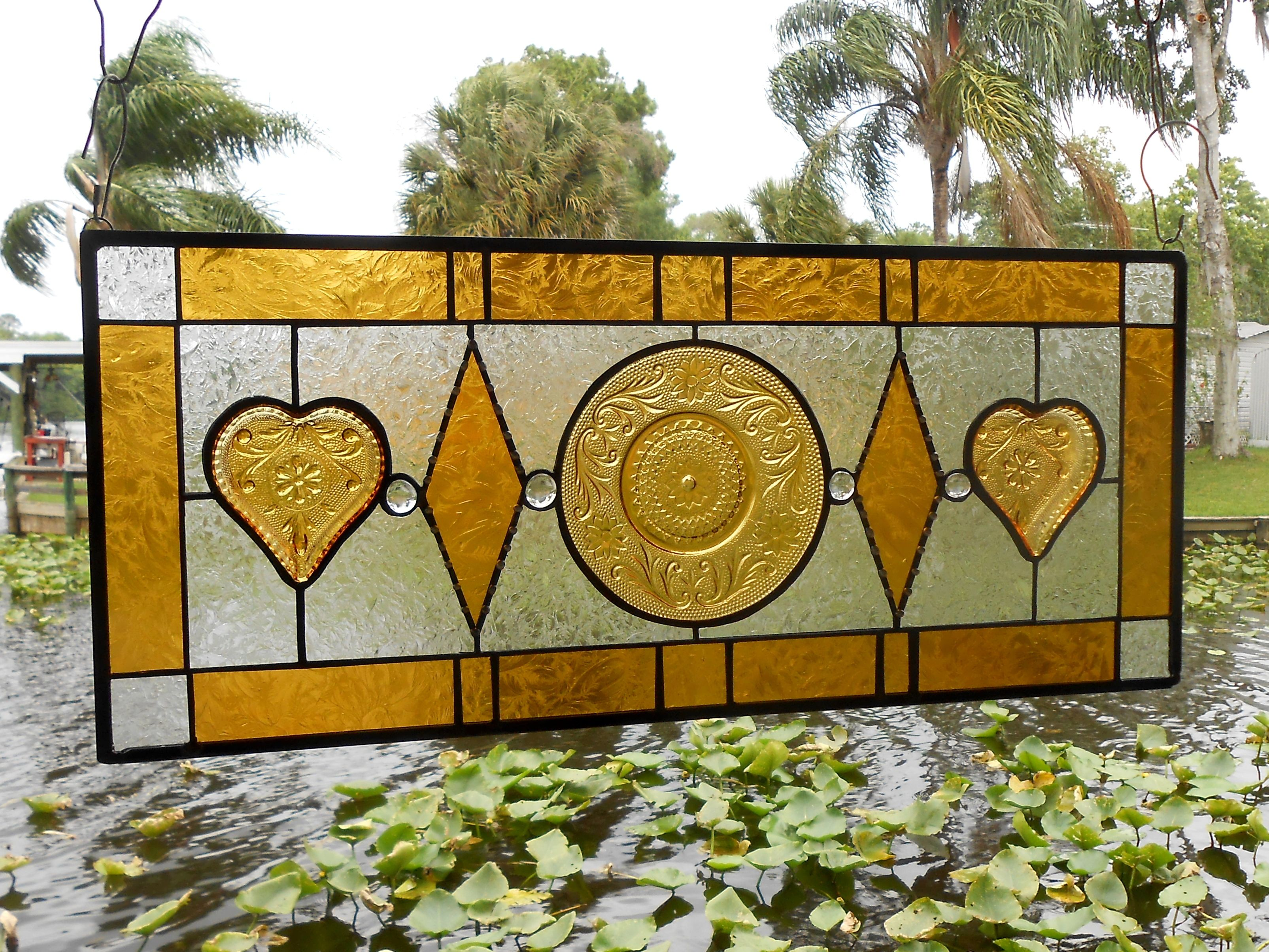 Buy Custom Stained Glass Transom Window, Sandwich Glass Stained ...