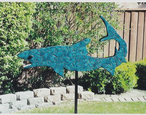 Custom Made Tile Mosaic Shark Sculpture