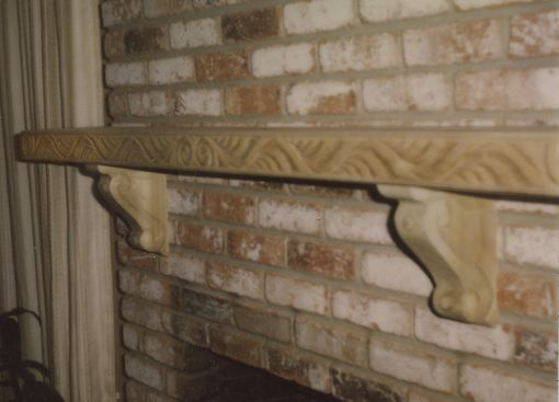 Custom Made Hand-Carved Fireplace Mantel