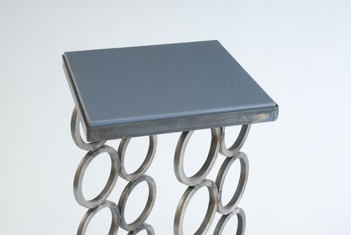 Custom Made Steel Base Wine Rack/Occasional Table With Interchangeable Tops
