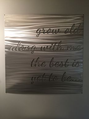 Custom Made Metal Quote Sign
